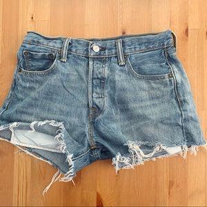 Vintage distressed cut off Levi's hi rise shorts